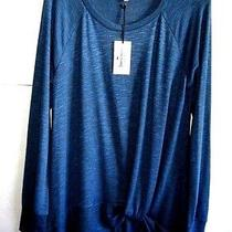 Juicy Couture M Steel-Blue Scoop-Neck Twist-Hem Pullover Tunic Ray/span L/s Nwt Photo