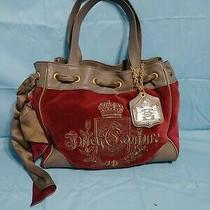 Juicy Couture Maroon/ Gray Handbag Pre-Owned Photo