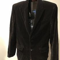 Juicy Couture Men's Black Velvet Two Button Blazer Sports Jacket - Size 40 Photo
