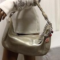 Juicy Couture Metallic Pewter Champagne Hobo Bag Photo