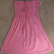 Juicy Couture Micro Terry Smoked Dress Swim Cover Up Med Bikini Pink 118 Photo