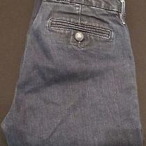 Juicy Couture Mid Rise Flare Cuffed Dark Wash Blue Jeans Size 30 Nice Jeans Photo
