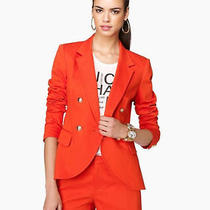 Juicy Couture Mini Honeycomb Blazer Pomme Orange Size 8 Photo