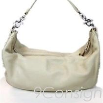 Juicy Couture Mini Small Leather Hobo Shoulderbag Purse White Cream Silver  Photo