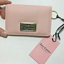 Juicy Couture Nwt Gothic Status Card Case Keychain Pink Free Shipping Photo