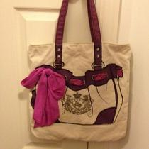 Juicy Couture Nwt Trompe l'oiel Canvas Daydreamer Shopper Tote Bag From Macys  Photo