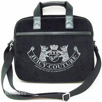 Juicy Couture Old School Scottie Laptop Computer Messenger Bag Case Black Nwt Photo