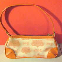 Juicy Couture Orange Leather Cotton Purse Handbag Shoulder Bag Small Rare Photo