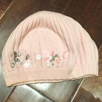 Juicy Couture Pink Beret Wool Beanie Blush Jewels Sequins Photo