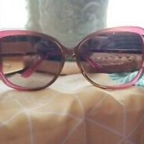 Juicy Couture Pinkbrown and Gold Glamorous Sunglasses Includes Case and Cloth Photo