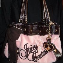 Juicy Couture Pink Brown Velour Bag Purse Handbag Photo