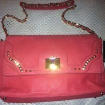 Juicy Couture Pink Coral Freya Gold Studded Leather Tote Purse Yhru3489 Photo