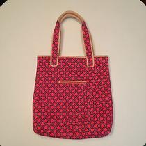 Juicy Couture Pink Printed Neoprene Computer Bag Tote Leather Trim Photo