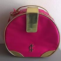 Juicy Couture Pink Train Case Vanity Cosmetic Make-Up Round  Photo