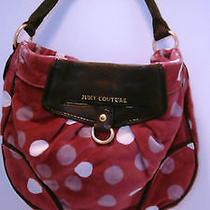 Juicy Couture Poka Dot Velor  Satchel Designer Hobo Purse Handbag Photo