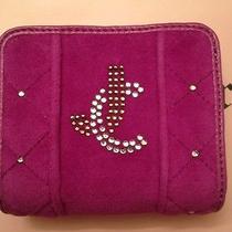 Juicy Couture Purple Velour Wallet Ysru2412 Nwt Photo