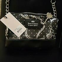 Juicy Couture Purse Black and Silver 6x4 in New With Tags Photo