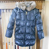 Juicy Couture Quilted Faux Fur Collar Hoodie Coat Teens Size 8  Photo