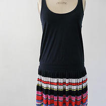 Juicy Couture Racerback Navy Dress With Striped Skirt Size S Photo