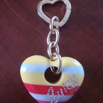 Juicy Couture Rare Acrylic Heart Purse Fob   Nwot   Photo