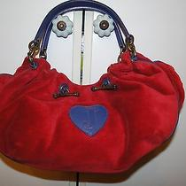 Juicy Couture Red/blue Velour Bag Purse Photo