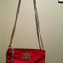 Juicy Couture Rednylon Shoulder Bag Chain Strap & Gold Tone Detail Photo