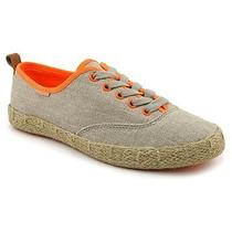 Juicy Couture Salla Shoes -Dark Natural Hemp/neon Orange Photo