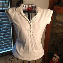 Juicy Couture Shirt Size Petite Collared White Photo