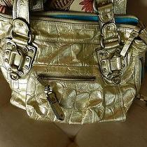 Juicy Couture Silver Fairfax Leather Metallic Collection Croc Handbag Photo