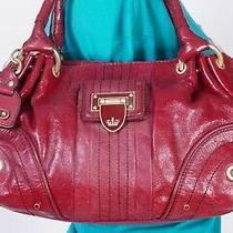 Juicy Couture Small Med Red Leather Shoulder Hobo Tote Satchel Purse Bag Photo