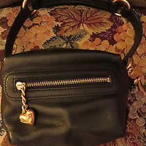 Juicy Couture Small Square Soft Black Leather Purse Gold Purse Bag Fetish O Ring Photo