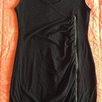 Juicy Couture Soft Black Zipper Cocktail Dress Sz Small Joie Photo