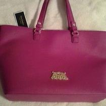 Juicy Couture  Sophia Leather Tote Bag in Deep  Fushia Pink Photo