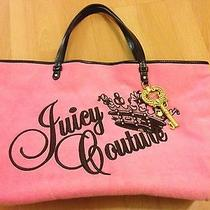 Juicy Couture Sweet Pea Pink Terry Large Tote Photo