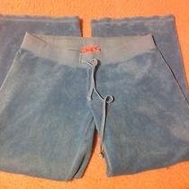 Juicy Couture Terry Cloth Cropped Pants Size Small Blue Teal Photo