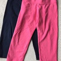 Juicy Couture Toddler Girl Xs Set of Two Leggings Pants Bottoms Pink & Navy  Photo