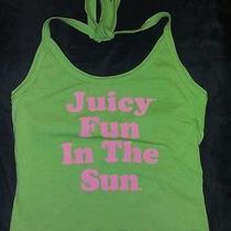 Juicy Couture Top New Green Pink Fun in the Sun Halter Medium M Summer Swimwear Photo