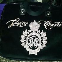 Juicy Couture Velvet Black Computer Messenger Bag Photo