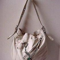 Juicy Couture White Leather Hobo Purse Cherry Charm  Photo