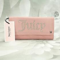 Juicy Couture Women's Rhinestone Social Clutch Wallet Large Bi-Fold Blush Pink Photo