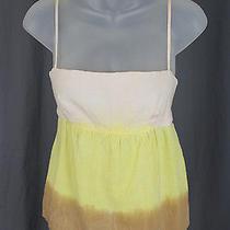 Juicy Couture Women's Yellow Beige Pale Blush Ombre Tank Top Shirt Sz M Photo