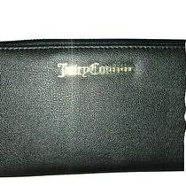 Juicy Couture Women Wallet Black Zip Around Wristlet Photo