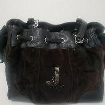 Juicy Couture Womens Brown Velour Hobo Shoulder Bag Purse Handbag Medium Photo