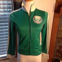 Juicy Couture Zip Up Track Jacket Size Petite Green Photo
