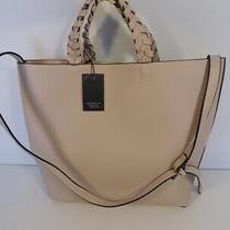 Jules Kae Tote Handbag Bag Vegan Leather Blush 150 Rachel Zoe Box of Style New Photo