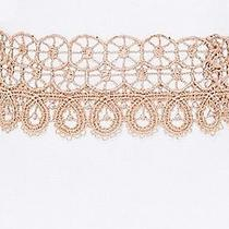 Jules Smith New Blush Beige Women's Dia Lace Clasp Choker Necklace 35 085 Photo