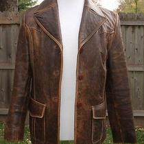 Juliet Michelle by Adler New Zealand Lamb Skin Coat Distressed Brown - Size L Photo