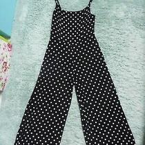 Jumpsuit 10 Primark Culotte Style Black & White Spots. Excellent Condition Photo