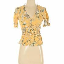 June & Hudson Women Yellow 3/4 Sleeve Blouse S Photo