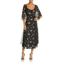 June & Hudson Womens Black Short Sleeves Knee-Length Casual Dress M Bhfo 0460 Photo